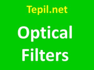 optical filters - מסננים אופטיים