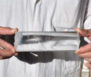 גביש קלציום פלואוריד - CaF2 - calcium fluoride crystal