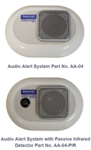 מערכת אזהרה קולית בעבודה עם לייזרים