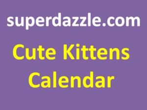 Cute Kittens Calendar