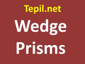 Wedge Prisms - מנסרת טריז