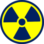 Lead glass radiation shielding sign