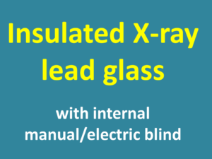 Insulated lead glass with internal electric blind