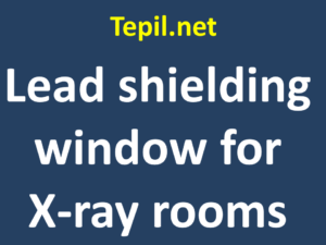 Lead shielding window for X-ray rooms