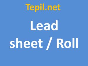 lead sheet roll