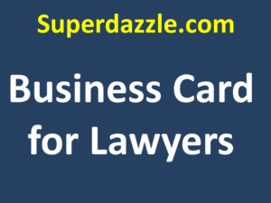Business Card for Lawyers