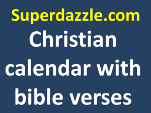 Christian calendar with bible verses