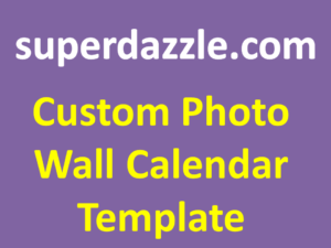 Custom Photo Wall Calendar Template