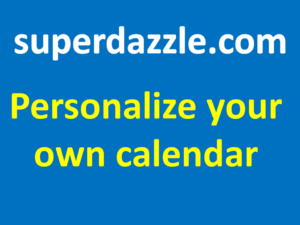 Personalize your own calendar