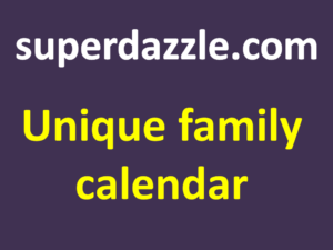 unique Personalized Family Photo Calendar Template
