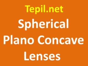 spherical plano concave lenses