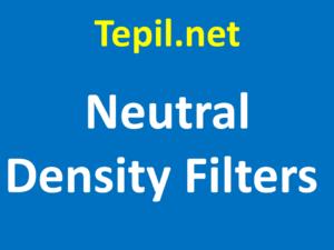 Neutral Density Filters - מסנן ND