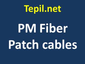 PM Fiber Patch cables - כבל סיב אופטי משמר קיטוב