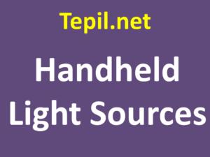 Handheld Light Sources - מקורות אור ידניים