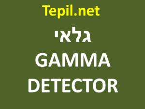 גלאי קרינת גמא | GAMMA DETECTOR