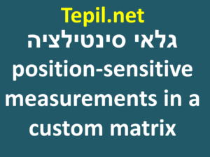 גלאי סינטילציה - to do position-sensitive measurements in a custom matrix