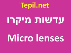 מיקרו עדשה | עדשה מיקרו | מיקרו עדשות | עדשות מיקרו