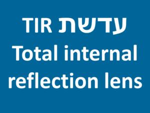 עדשת השתקפות פנימית מלאה - Total internal reflection lens TIR